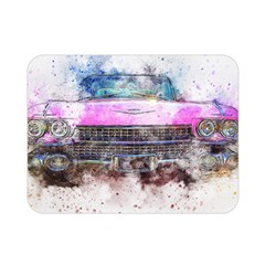 Pink Car Old Art Abstract Double Sided Flano Blanket (mini)