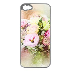 Flowers Bouquet Art Abstract Apple Iphone 5 Case (silver)