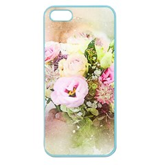 Flowers Bouquet Art Abstract Apple Seamless Iphone 5 Case (color)