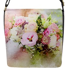 Flowers Bouquet Art Abstract Flap Messenger Bag (s)