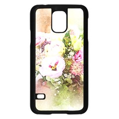Flowers Bouquet Art Abstract Samsung Galaxy S5 Case (black)