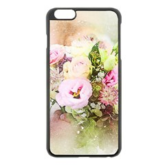 Flowers Bouquet Art Abstract Apple Iphone 6 Plus/6s Plus Black Enamel Case