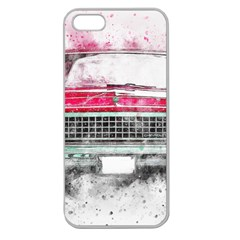 Car Old Car Art Abstract Apple Seamless Iphone 5 Case (clear)
