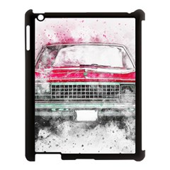 Car Old Car Art Abstract Apple Ipad 3/4 Case (black)