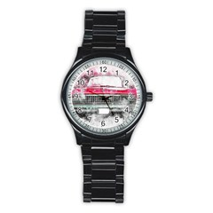 Car Old Car Art Abstract Stainless Steel Round Watch