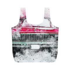 Car Old Car Art Abstract Full Print Recycle Bags (m)
