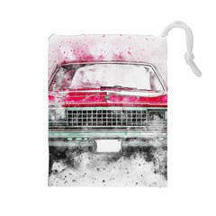 Car Old Car Art Abstract Drawstring Pouches (large)