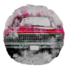 Car Old Car Art Abstract Large 18  Premium Flano Round Cushions
