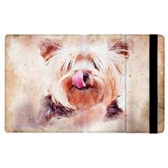 Dog Animal Pet Art Abstract Apple Ipad 3/4 Flip Case