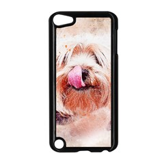 Dog Animal Pet Art Abstract Apple Ipod Touch 5 Case (black)