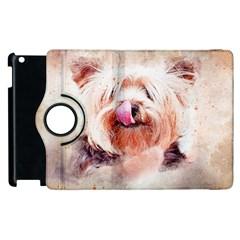 Dog Animal Pet Art Abstract Apple Ipad 2 Flip 360 Case
