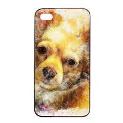 Dog Animal Art Abstract Watercolor Apple Iphone 4/4s Seamless Case (black)