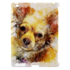 Dog Animal Art Abstract Watercolor Apple Ipad 3/4 Hardshell Case (compatible With Smart Cover)