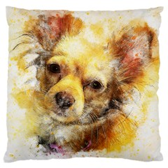 Dog Animal Art Abstract Watercolor Large Cushion Case (two Sides)