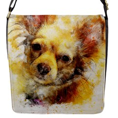Dog Animal Art Abstract Watercolor Flap Messenger Bag (s)