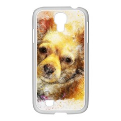 Dog Animal Art Abstract Watercolor Samsung Galaxy S4 I9500/ I9505 Case (white)