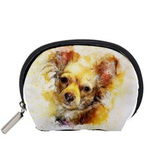 Dog Animal Art Abstract Watercolor Accessory Pouches (small)