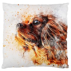 Dog Animal Pet Art Abstract Large Cushion Case (one Side)