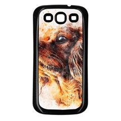 Dog Animal Pet Art Abstract Samsung Galaxy S3 Back Case (black)