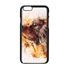Dog Animal Pet Art Abstract Apple Iphone 6/6s Black Enamel Case