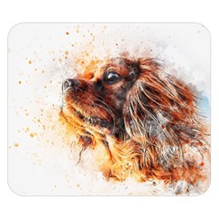 Dog Animal Pet Art Abstract Double Sided Flano Blanket (small)