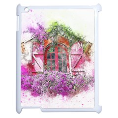 Window Flowers Nature Art Abstract Apple Ipad 2 Case (white)