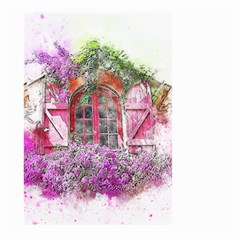 Window Flowers Nature Art Abstract Large Garden Flag (two Sides)