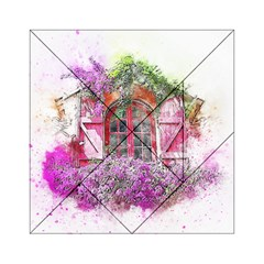 Window Flowers Nature Art Abstract Acrylic Tangram Puzzle (6  X 6 )