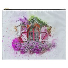 Window Flowers Nature Art Abstract Cosmetic Bag (xxxl)
