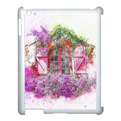 Window Flowers Nature Art Abstract Apple Ipad 3/4 Case (white)