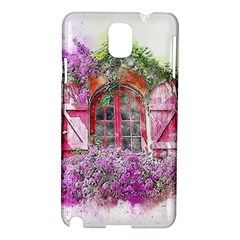 Window Flowers Nature Art Abstract Samsung Galaxy Note 3 N9005 Hardshell Case