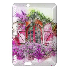 Window Flowers Nature Art Abstract Kindle Fire Hdx Hardshell Case