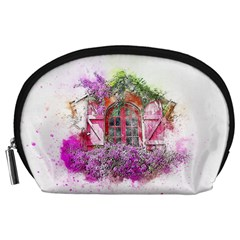 Window Flowers Nature Art Abstract Accessory Pouches (large)