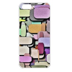Background Painted Squares Art Apple Iphone 5 Seamless Case (white)