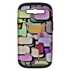 Background Painted Squares Art Samsung Galaxy S Iii Hardshell Case (pc+silicone)