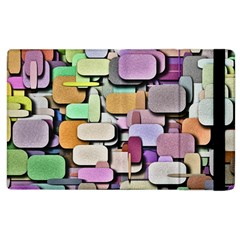 Background Painted Squares Art Apple Ipad 3/4 Flip Case