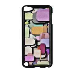 Background Painted Squares Art Apple Ipod Touch 5 Case (black)