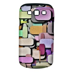 Background Painted Squares Art Samsung Galaxy S Iii Classic Hardshell Case (pc+silicone)