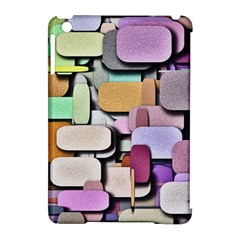 Background Painted Squares Art Apple Ipad Mini Hardshell Case (compatible With Smart Cover)