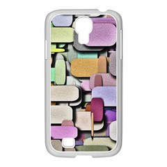 Background Painted Squares Art Samsung Galaxy S4 I9500/ I9505 Case (white)