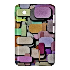 Background Painted Squares Art Samsung Galaxy Tab 2 (7 ) P3100 Hardshell Case