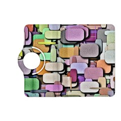 Background Painted Squares Art Kindle Fire Hd (2013) Flip 360 Case