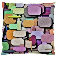 Background Painted Squares Art Standard Flano Cushion Case (two Sides)
