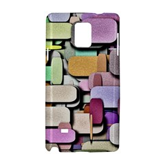 Background Painted Squares Art Samsung Galaxy Note 4 Hardshell Case