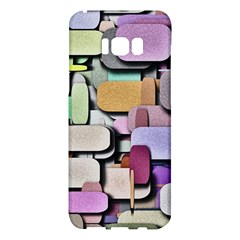 Background Painted Squares Art Samsung Galaxy S8 Plus Hardshell Case