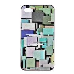 Background Painted Squares Art Apple Iphone 4/4s Seamless Case (black)