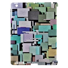 Background Painted Squares Art Apple Ipad 3/4 Hardshell Case (compatible With Smart Cover)