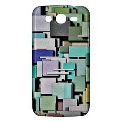 Background Painted Squares Art Samsung Galaxy Mega 5 8 I9152 Hardshell Case