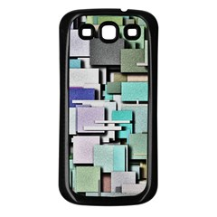 Background Painted Squares Art Samsung Galaxy S3 Back Case (black)