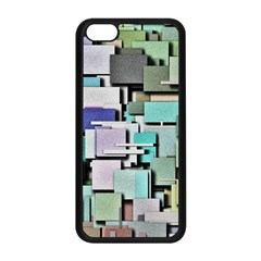 Background Painted Squares Art Apple Iphone 5c Seamless Case (black)
